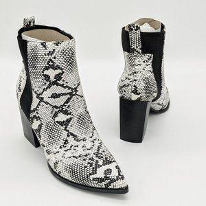 Wild Diva Judith 07 Snake Print Chelsea Ankle Boot